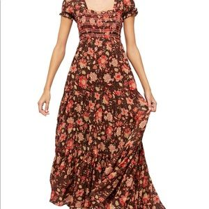 FREE PEOPLE | Getaway Floral Tiered Maxi dress S